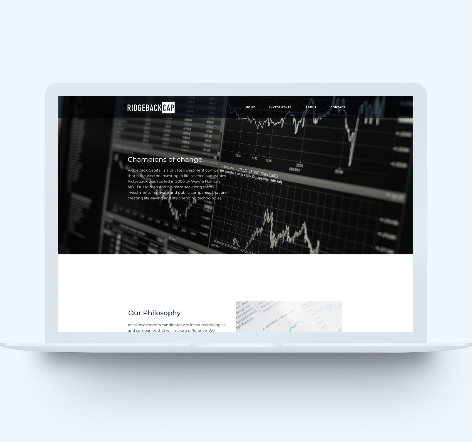 Website Design Work for Ridgeback Capital